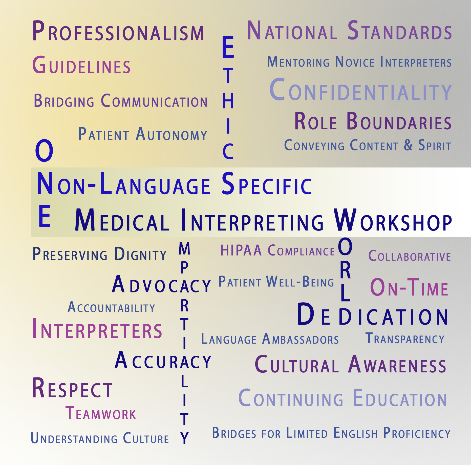 Introducing Berkeley Language Institutes' Non- Language Specific Healthcare Interpreting Summer Sessions.